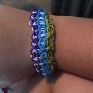 Jewelry - Super comfy triple rainbow loom bracelet!